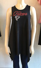 NFL ATLANTA FALCONS Womens Buttery Soft  Handerchief Hem Tank Tunic NWT SM-LG