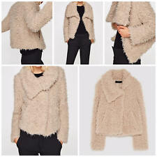 ZARA NEW TEXTURED JACKET WITH WRAPAROUND COLLAR 6318/230