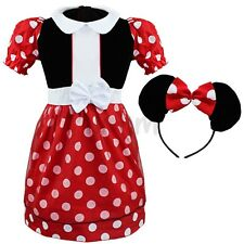 Baby Girls Minnie Mouse Halloween Party Fancy Dress UP + Ear Kids Outfit Costume
