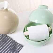 Round Shape Home Room Car Hotel Toilet Tissue Box Cover Paper Holder Case EB