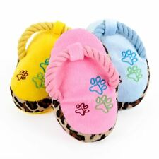 HOOPET Dogs Pet Toy Chewing Play Cute Soft Plush Slipper Shape Squeaky Shoes AW