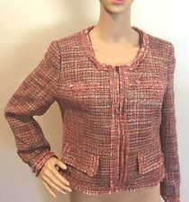New WoT Chadwicks Womens Jacket Blazer Lined Pink Career Office Lined Warm B15