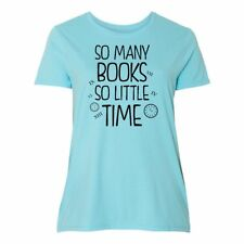 Inktastic So Many Books So Little Time Women's Plus Size T-Shirt Book Lovers My
