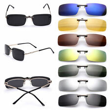 Polarized Sunglasses Clip On Driving Glasses Day Night Vision UV400 Mens Womens