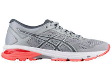 NEW WOMENS ASICS GT-1000 V6 GEL RUNNING SHOES TRAINERS MID GREY / CARBON D-WIDE