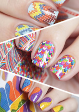 MILV Nail Art Water Transfers Decals Stickers Slider Desing knitting