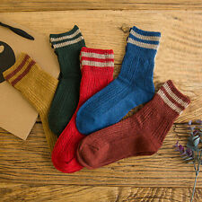 Fashion New Womens Girl Wool Warm Socks Winter Warm Striped anklet Socks 5 Color