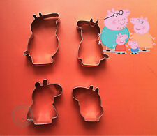 Peppa Pig Family Cookie Cutter Peppa George Peppa Party mold biscuit fondant
