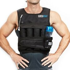Adjustable Weighted Vest 20 Lbs Exercise Training Waistcoat Fitness Jacket NEW