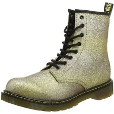 Dr Martens Delaney Y Glitter Gold/Multi Leather Youth Ankle Boots