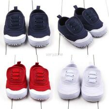 Newborn Toddler Baby Boys Girls Infant Canvas Kids Soft Sole Crib Shoes 4 Colors