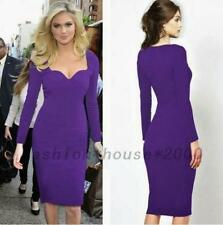 Wedding Guests Wear To Work Office Lady Formal Career Party Wiggle Pencil Dress