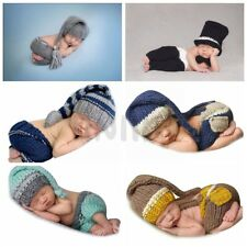 Newborn Baby Girls Boys Crochet Knit Costume Photo Photography Prop Outfits Xmas