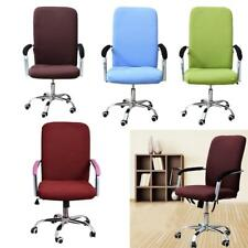 Elastic Chair Cover Office Study Armchair Seat Swivel Chair Slipcover 4 Colors