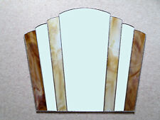 Art Deco Fantail Stained Glass Hand Made Wall Mirror FT7   50cm x 56cm