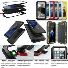 Aluminum Metal Waterproof Shockproof Gorilla Glass Cover Case For Apple iPhone