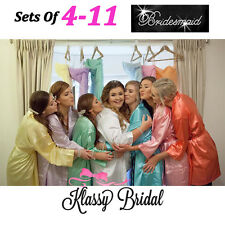 Bride Bridesmaid Robes wedding Personalised Bridal Party Gowns SET of 4-11