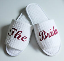 Spa Bride Personalized Slippers Robes Bridal Wedding Bridesmaid Hen Party