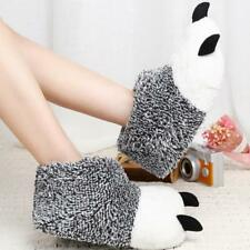 Fashion Indoor Winter Cotton Warm Plush Floor Shoes Animal Claws Home Slippers