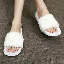 New Women Slippers Flip Flops Plush Warm Home Fur Comfortable Flats Fluffy Shoes