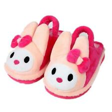 Warm Home Kids Skidproof Slippers New Children Cartoon Rabbit Fur Fluffy Shoes
