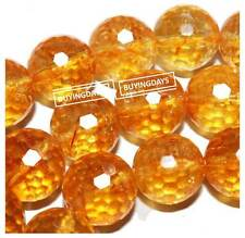 4mm 6mm 8mm 10mm 12mm 18mm Faceted Citrine Crystal Round Gem Bead