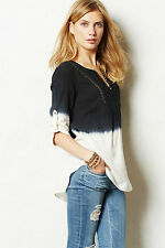 NIP Anthropologie Dip-Dyed Peasant Blouse by Floreat Sz 0