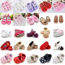 1 Pair Newborn Baby Toddler Girl Bowknot Crib Shoes Soft Soled Prewalker 0-18M