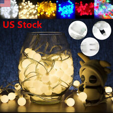 US 5m / 10m Globe LED String Light Ball Fairy Lamp Christmas Wedding Party New