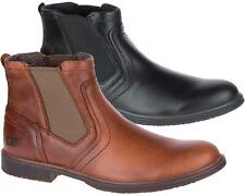 Caterpillar Mens Genuine Leather Ankle Boots Chelsea Dealer Formal Casual Smart