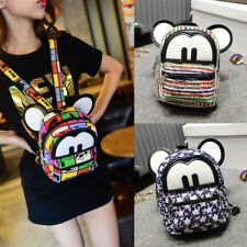 Mickey Women Canvas Backpacks Kids Mini Travel Rucksack Handbags School Bag Cute