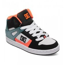 BNIB DC SHOES YOUTH REBOUND SE GLITTER BLUE, PEACH BLACK & WHITE