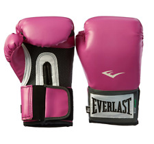 Everlast Pink Boxing Training Gloves Women's Pro Style Sparring Mitts Muay Thai