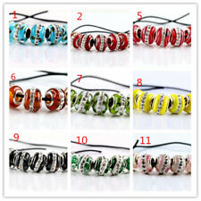 NEW 5Pcs SILVER MURANO GLASS BEADS LAMPWORK Fit European Charm Bracelet Jewelry