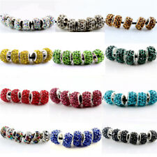 20Pcs SILVER MURANO GLASS BEADS LAMPWORK Fit European Charm Bracelet Jewelry
