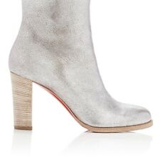 CHRISTIAN LOUBOUTIN WOMENS ADOX LEATHER ANKLE BOOTS