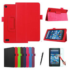 PU Leather Fold Case Smart Cover Wake Up + Screen Protector Kindle fire 7 2015