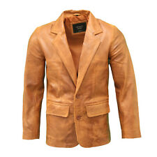 Mens Chestnut Brown Casual Blazer Tailored Slim Fitted 2 Button Classic Jacket