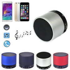 Bluetooth Wireless Metal AUX Handsfree Mic SD/TF Bass Stereo Speaker For iPhone