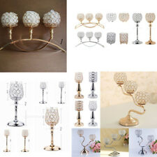 Crystal Tealight Candle Holders Candlestick Wedding Table Centerpiece Decor