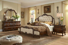 AICO Furniture - Lavelle Melange 5 Piece Queen Wing Mansion Bedroom Set with Fab