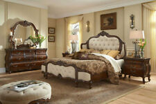 AICO Furniture - Lavelle Melange 4 Piece Queen Wing Mansion Bedroom Set with Fab