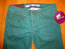NWT Tinseltown Skinny Jeans, Green & Black // Junior Sizes 0,1 & 3