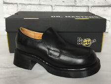 Ladies Dr. Martens Black Leather Slip On Loafer Shoe Size 4 Made in England