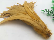 2017 Hot! Beautiful 10-200pcs (Gold)Rooster tail feathers 12-14inches/30-35cm