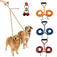 2 Way Nylon Dog Coupler Leash Rope No-Tangle Pet Double Lead for Twin Dogs Walk