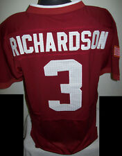 ALABAMA Crimson Tide #3 Richardson RIVALRY Hounds Tooth Sewn Jersey RED