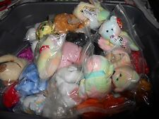 TY BEANIE BABIES BEARS DOGS TERRIER BULLDOG DOBERMAN  WHT TAGS  FREE SHIPPING