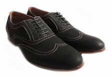 NEW FASHION MENS LACE UP WINGTIP OXFORDS CLASSIC LEATHER LINED DRESS SHOE/ BLACK