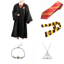 Adult Child Harry Potter Gryffindor Robe Cloak Costume Cape Tie Scarf Magic Wand